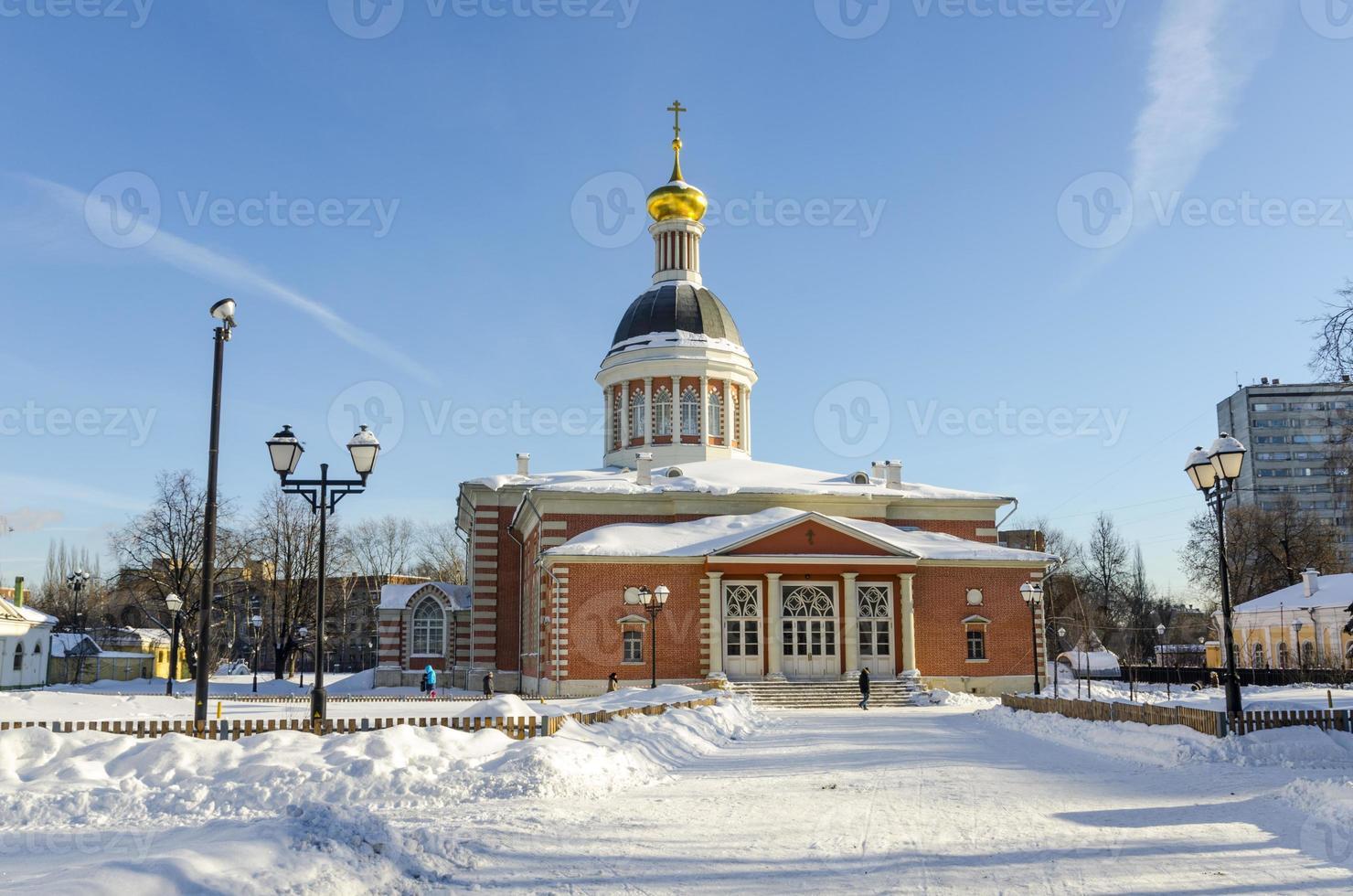 orthodoxe kerk in moskou, rusland winter, foto