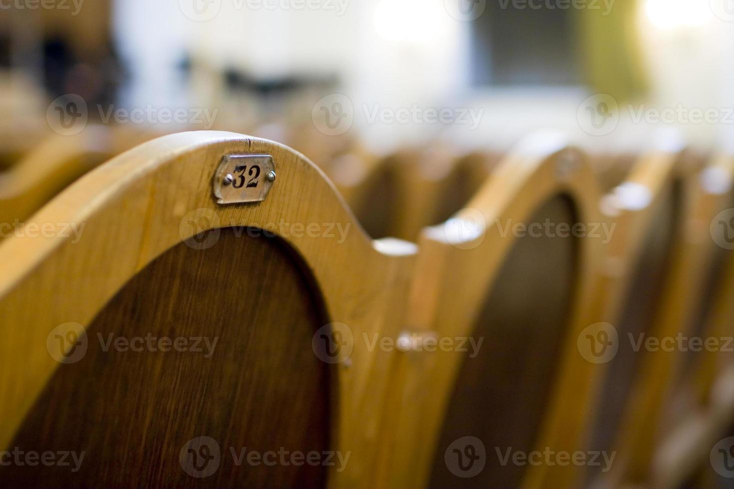 nummer op de stoel close-up. foto
