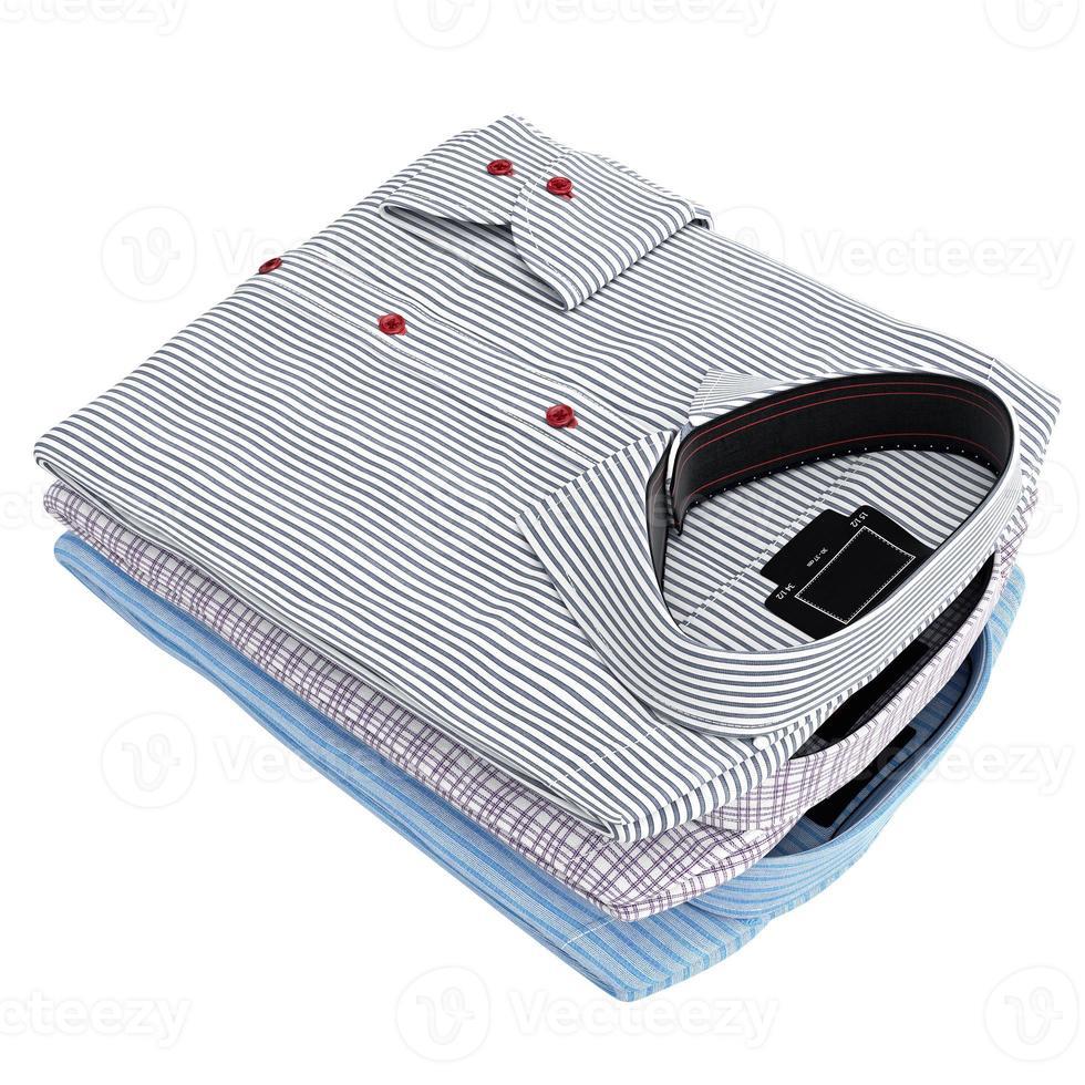 klassiek gestapeld hemd voor heren foto