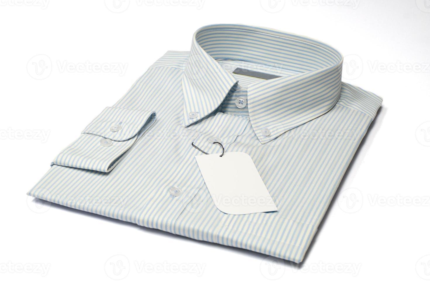heren overhemd en label foto