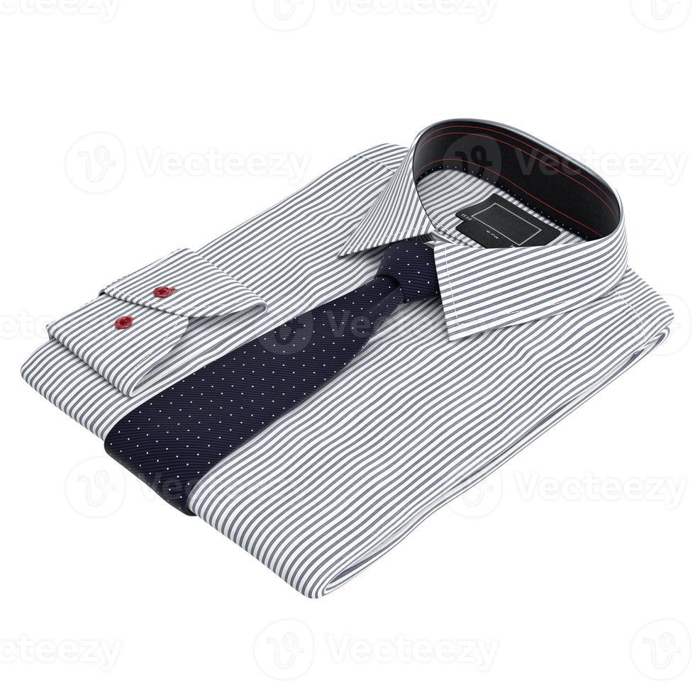 klassiek gekleurde herenoverhemden en stropdassen foto