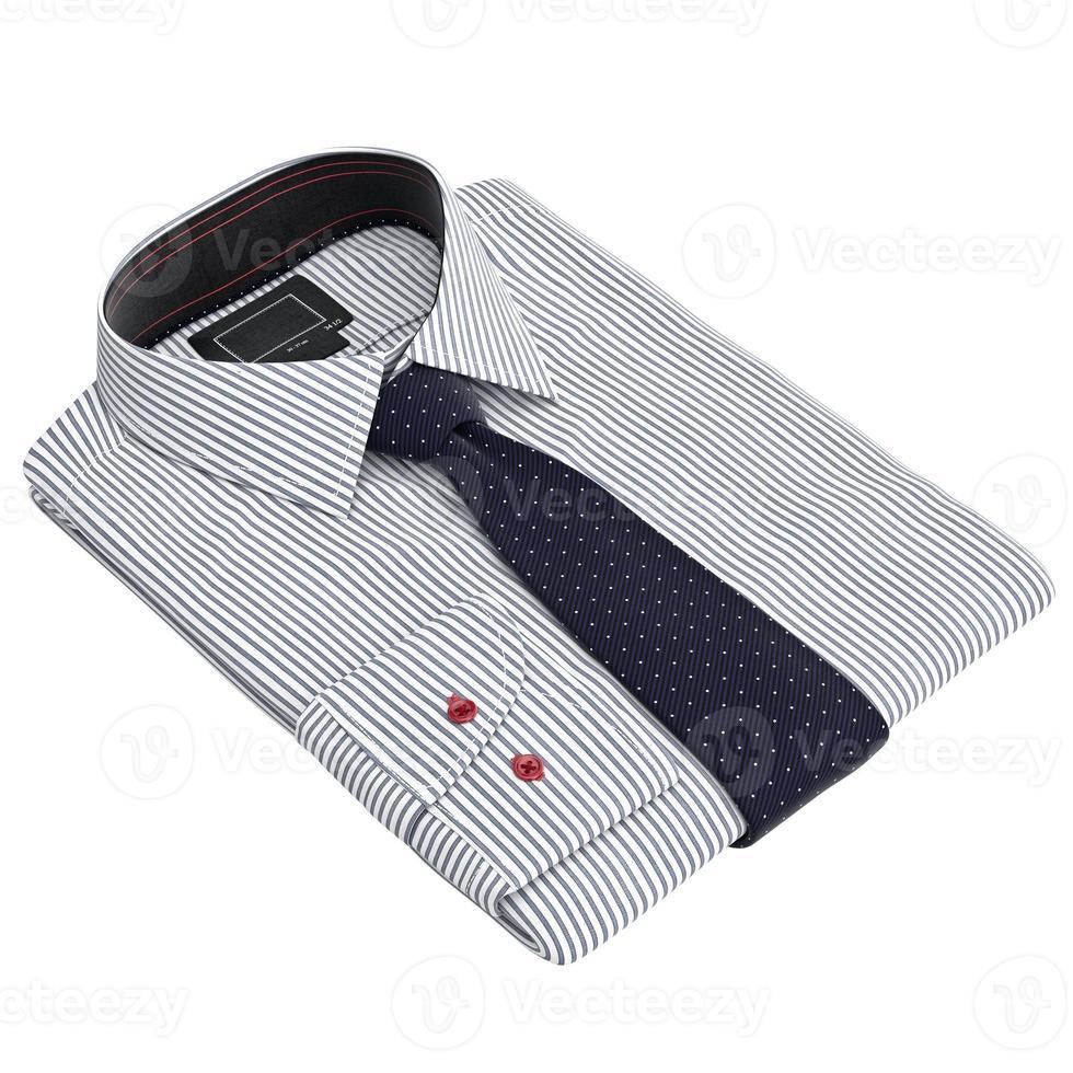 gevouwen klassiek heren overhemd met lange stropdassen foto