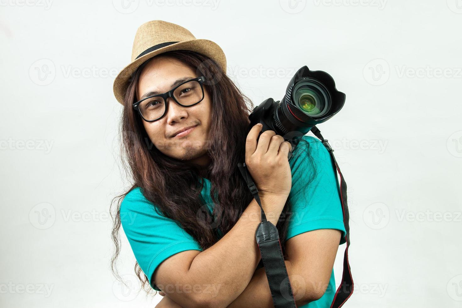 Aziatische fotograaf foto