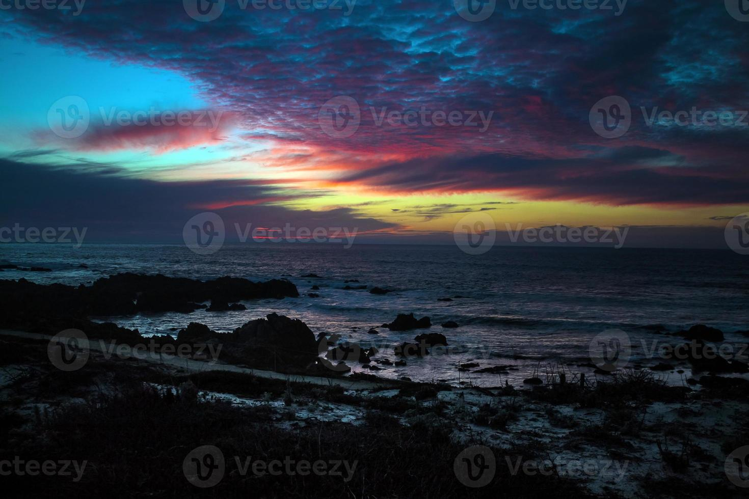 Stille Oceaan zonsondergang foto