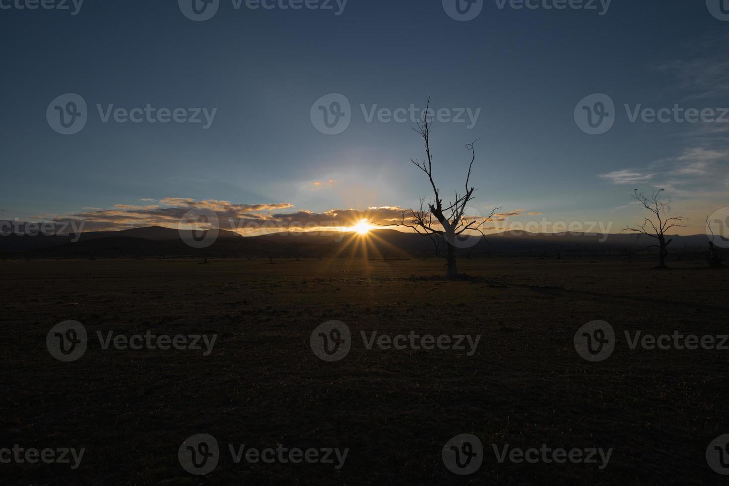 zonsondergang midlands tasmanië foto
