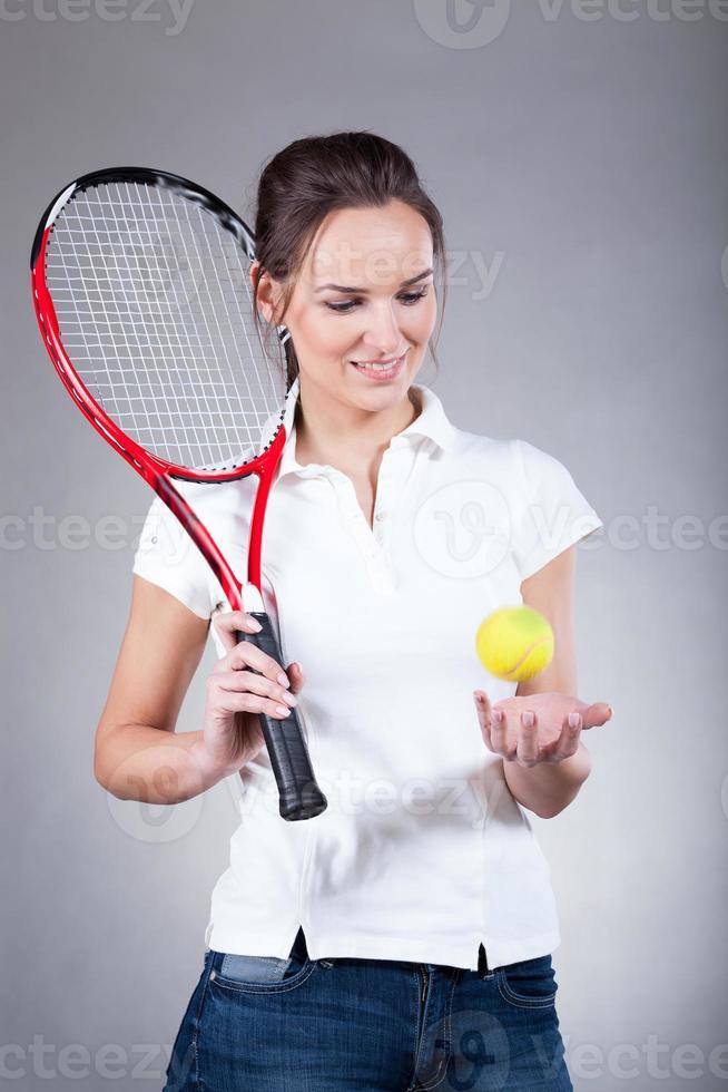 vrouwelijke tennisser foto