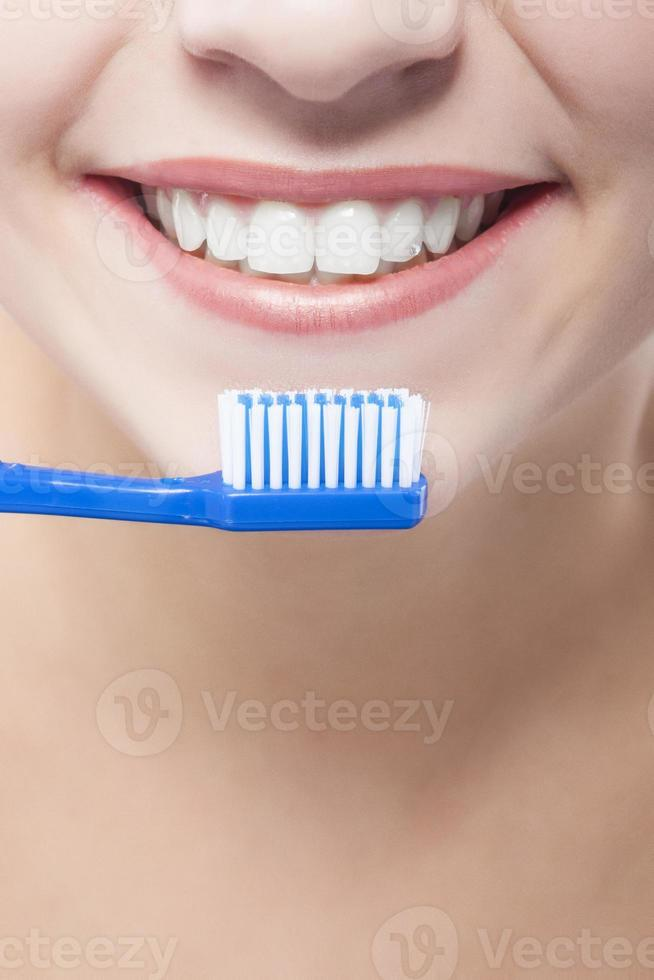 vrouwelijke mondclose-up foto