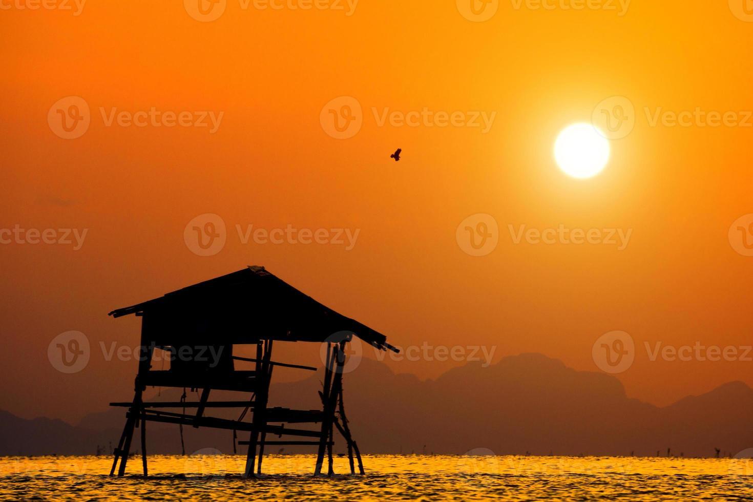 zonsondergang hemel, thailand foto
