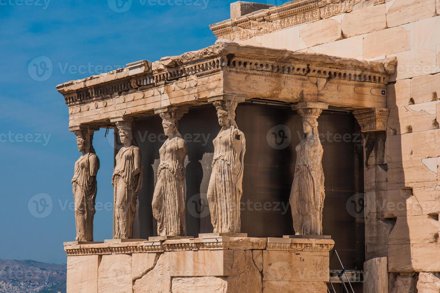 erechtheion, Athene foto