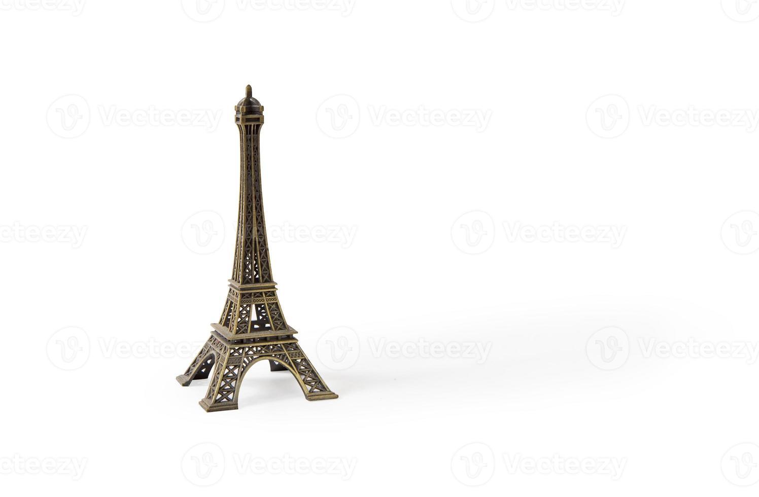 Eiffeltoren geïsoleerd op wit foto