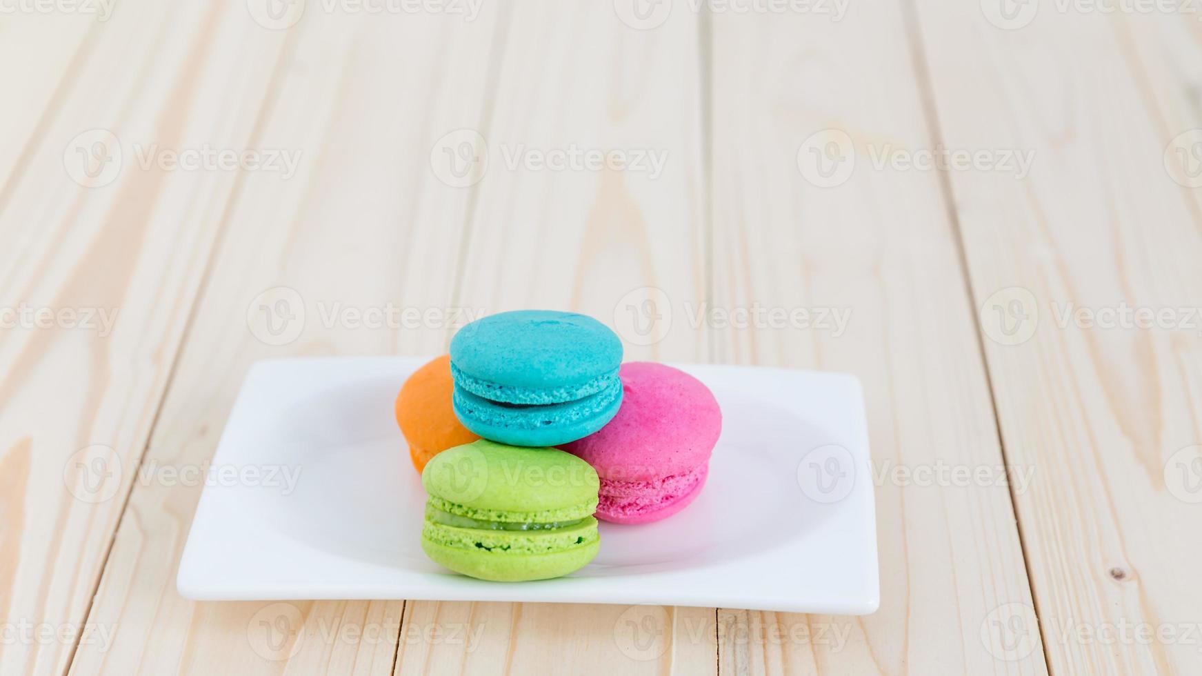 kleurrijke macarons foto