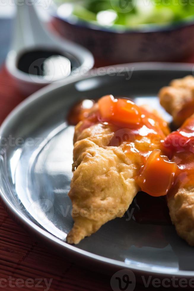 zoetzure kip op Aziatische wijze foto