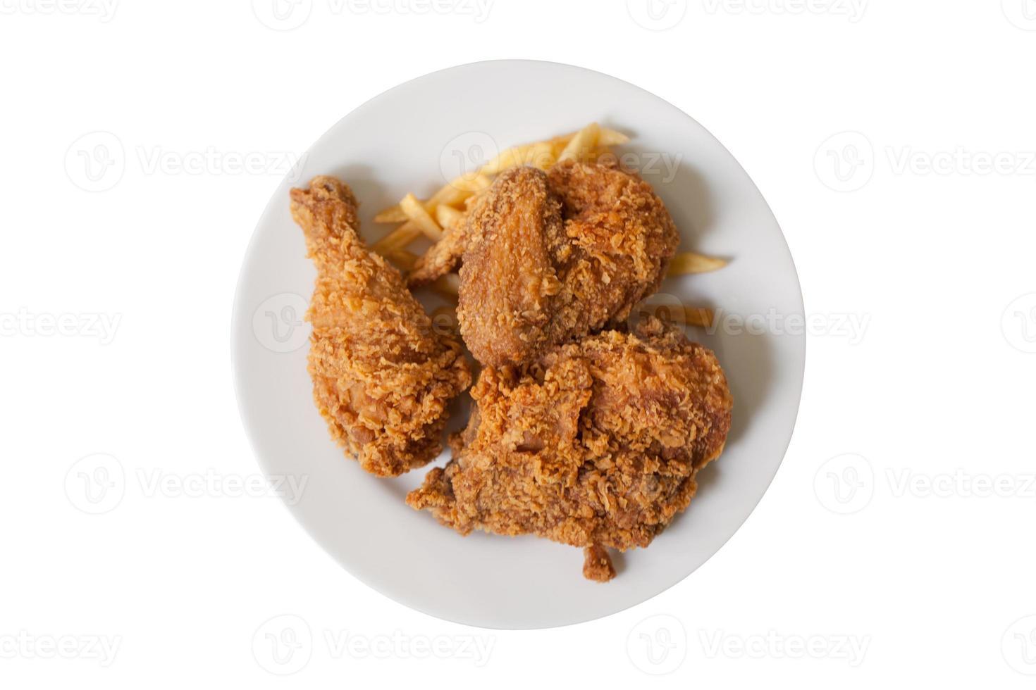 kipfrietjes en frietjes set, fast food foto