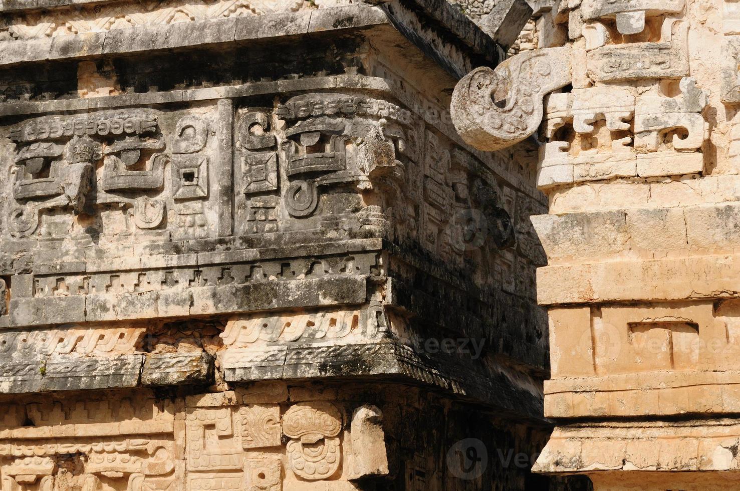 uxmal maya ruïnes in ucatan, exico foto