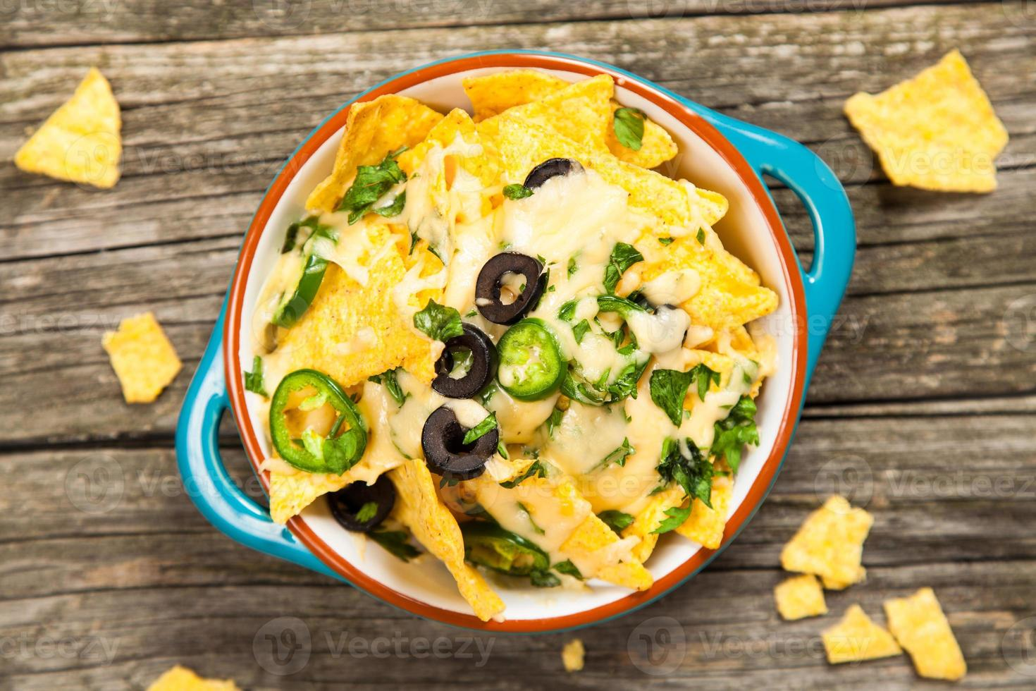 nacho's met gesmolten kaas foto