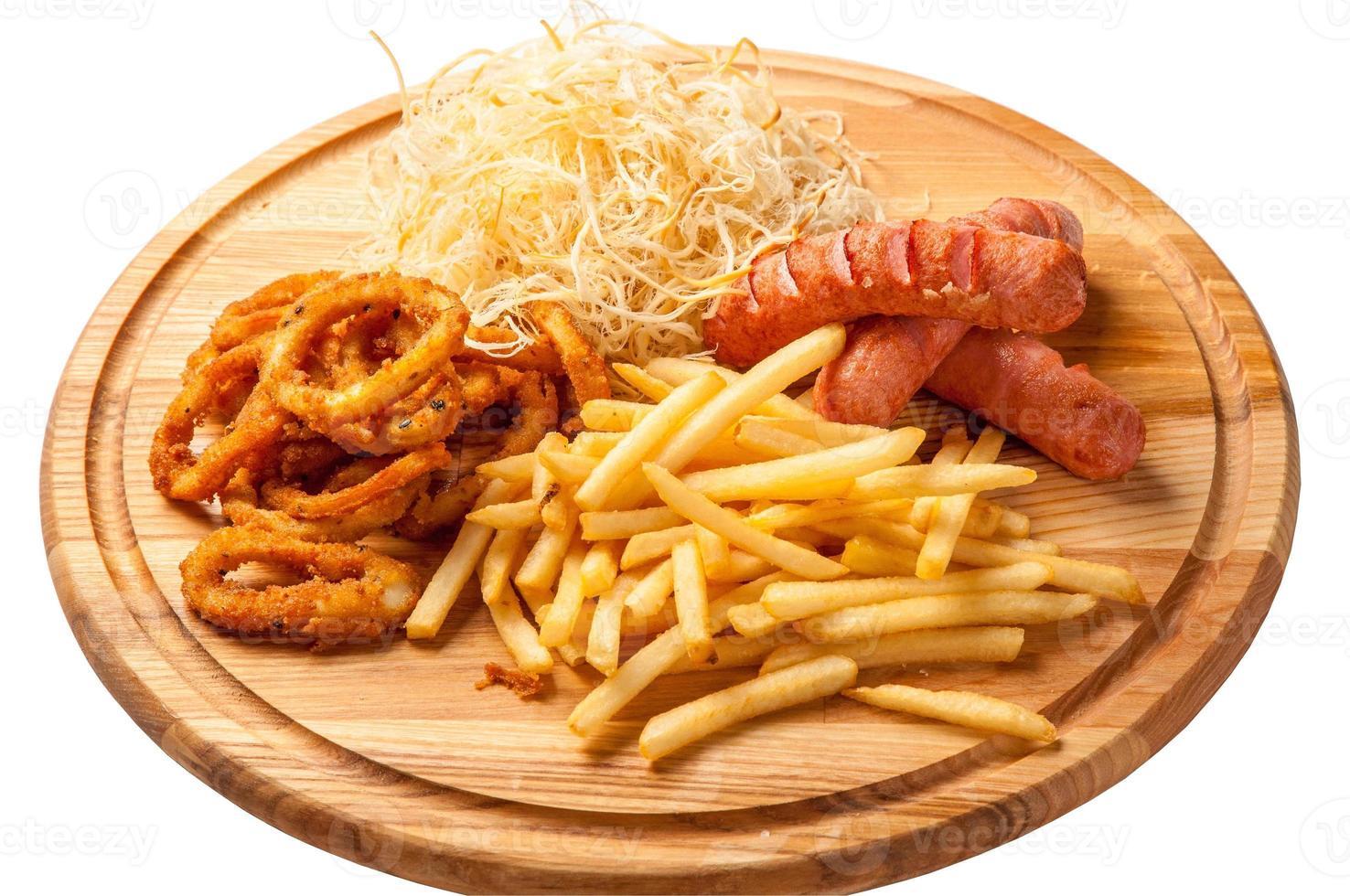 gebakken fast food - stock beeld foto