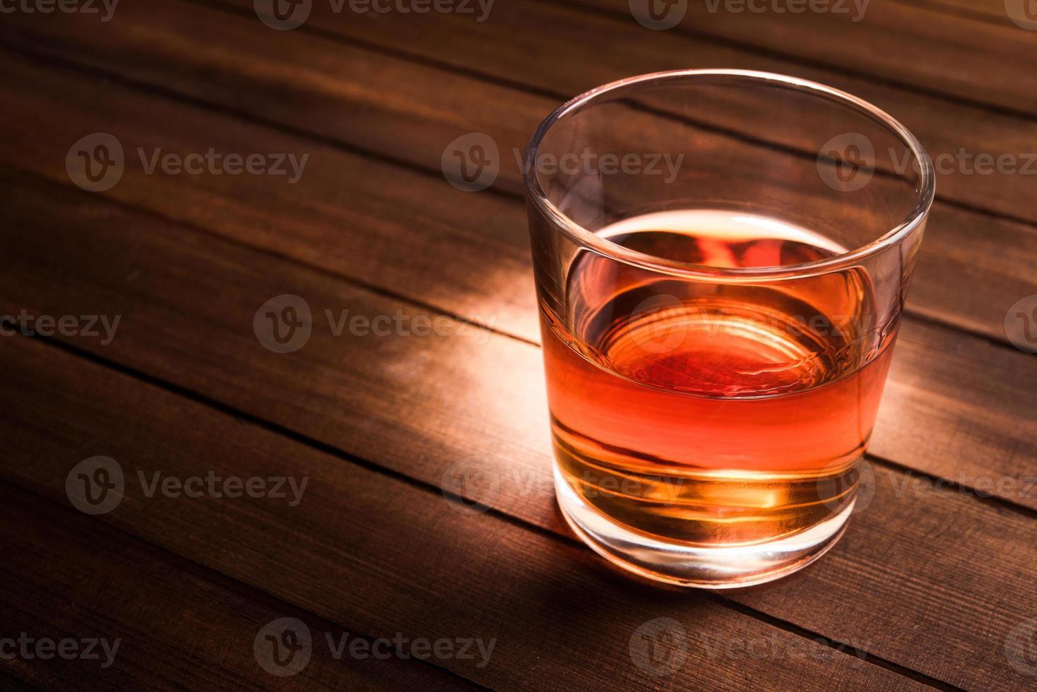 glas met cognac foto