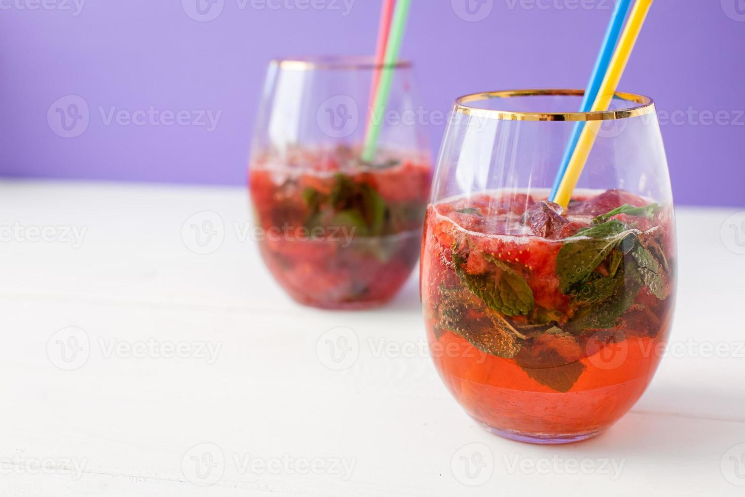 aardbei mohito coctail foto