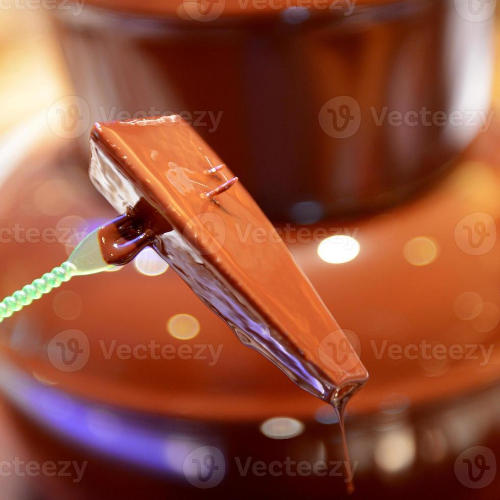 chocoladefontein met fruit foto