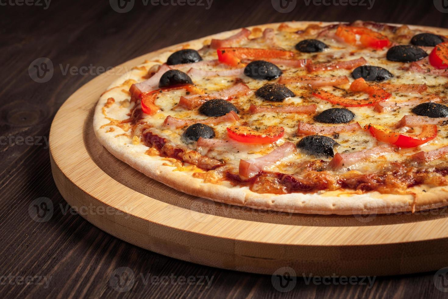 ham pizza foto