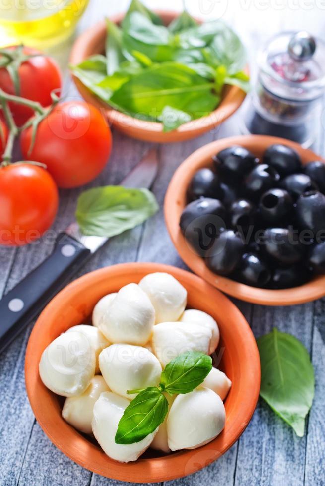 ingrediënten voor caprese foto