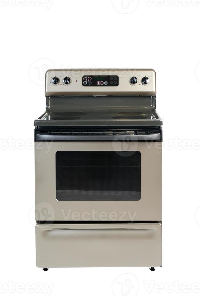 geïsoleerde keramische kookplaat vooraanzicht foto