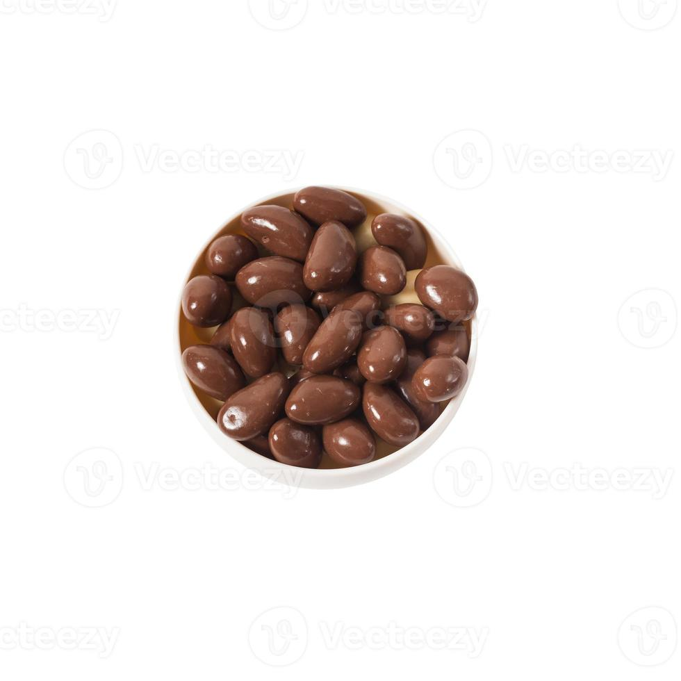 noten in chocolade foto
