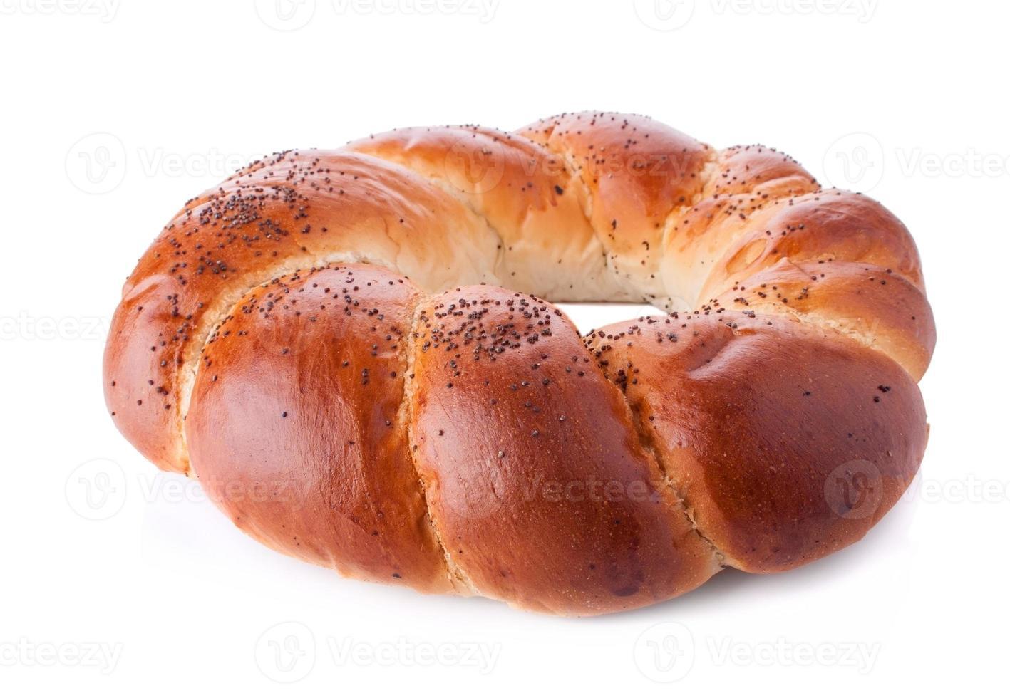 rond gebakken broodje foto
