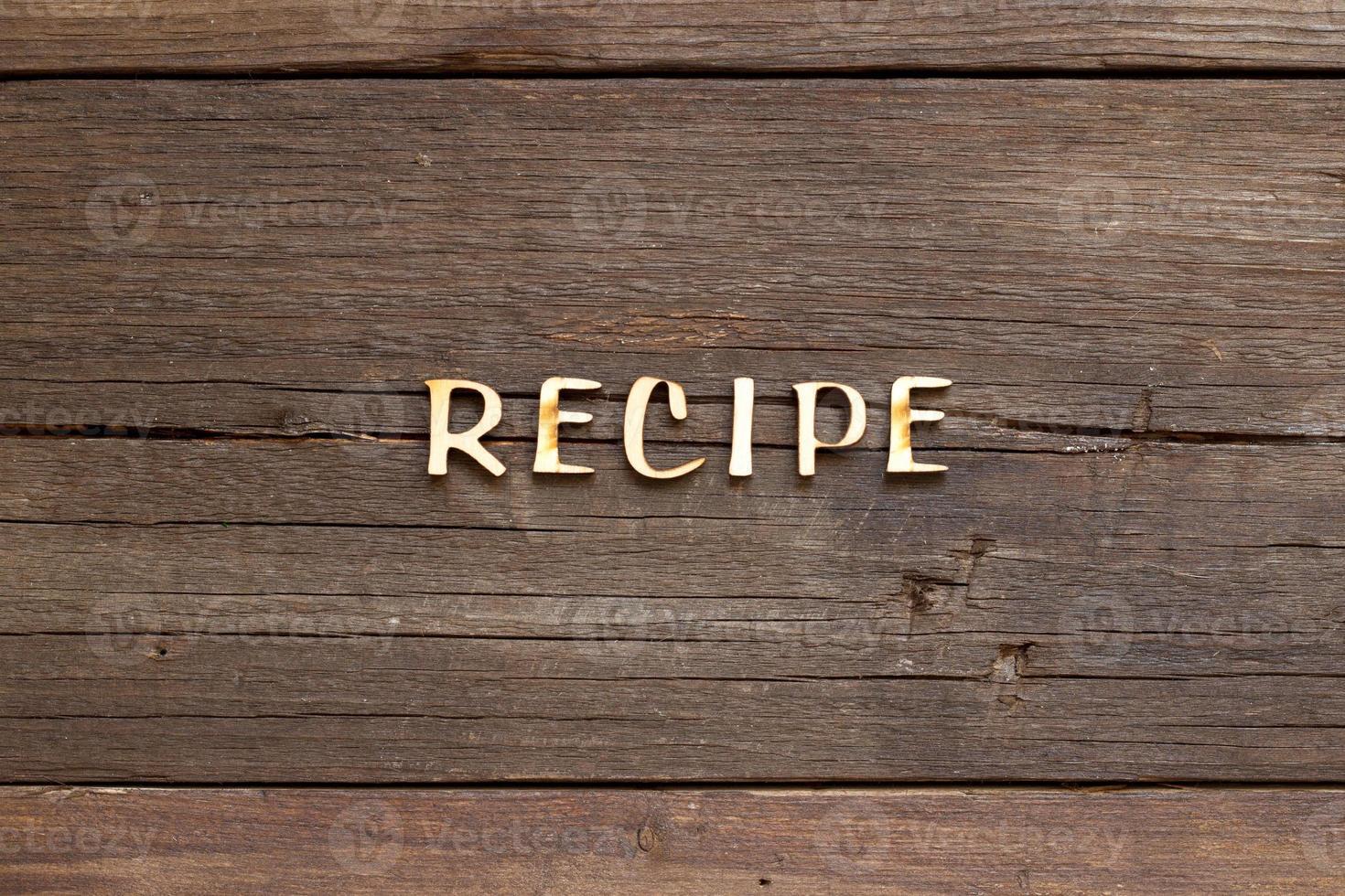 recepten woord foto