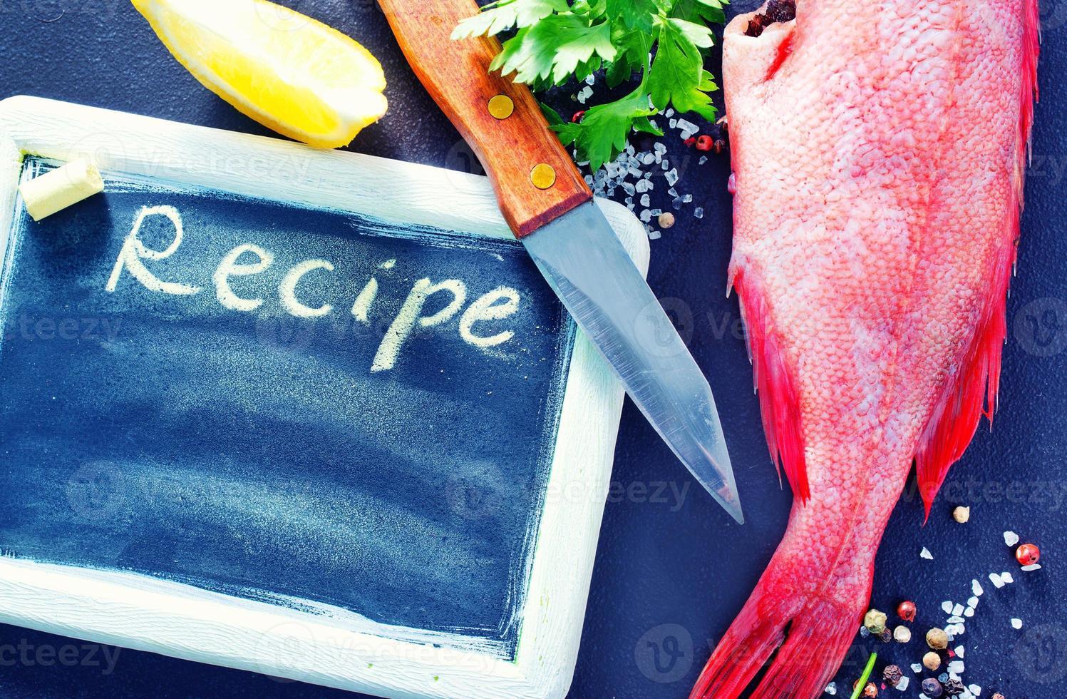 bord voor recept foto