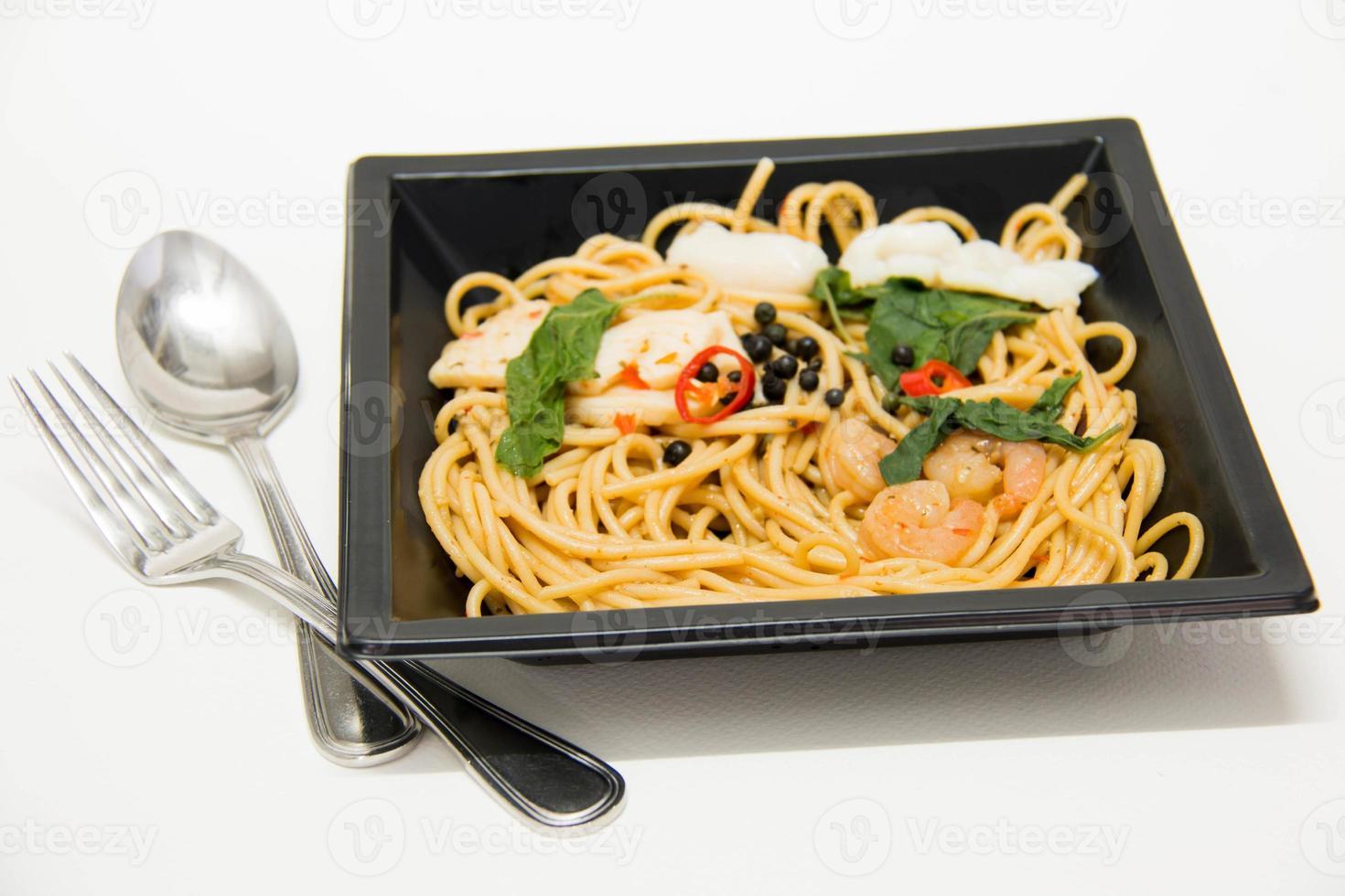 Italiaans recept: spaghetti en zeevruchten foto