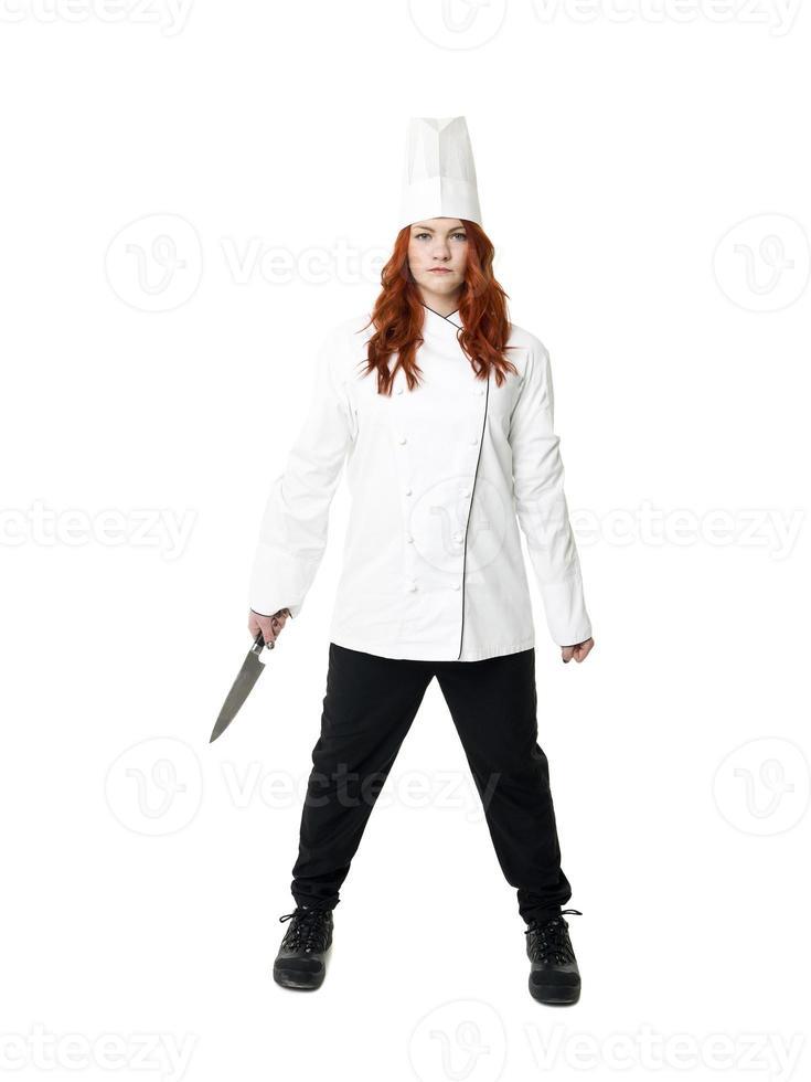 vrouwelijke chef foto