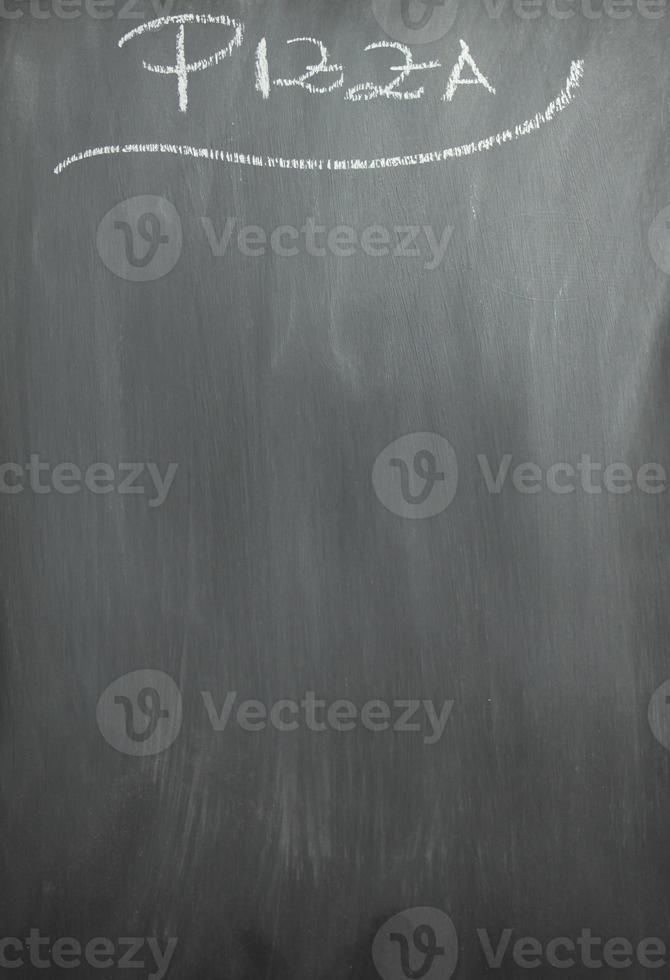 schoolbord pizza menu foto