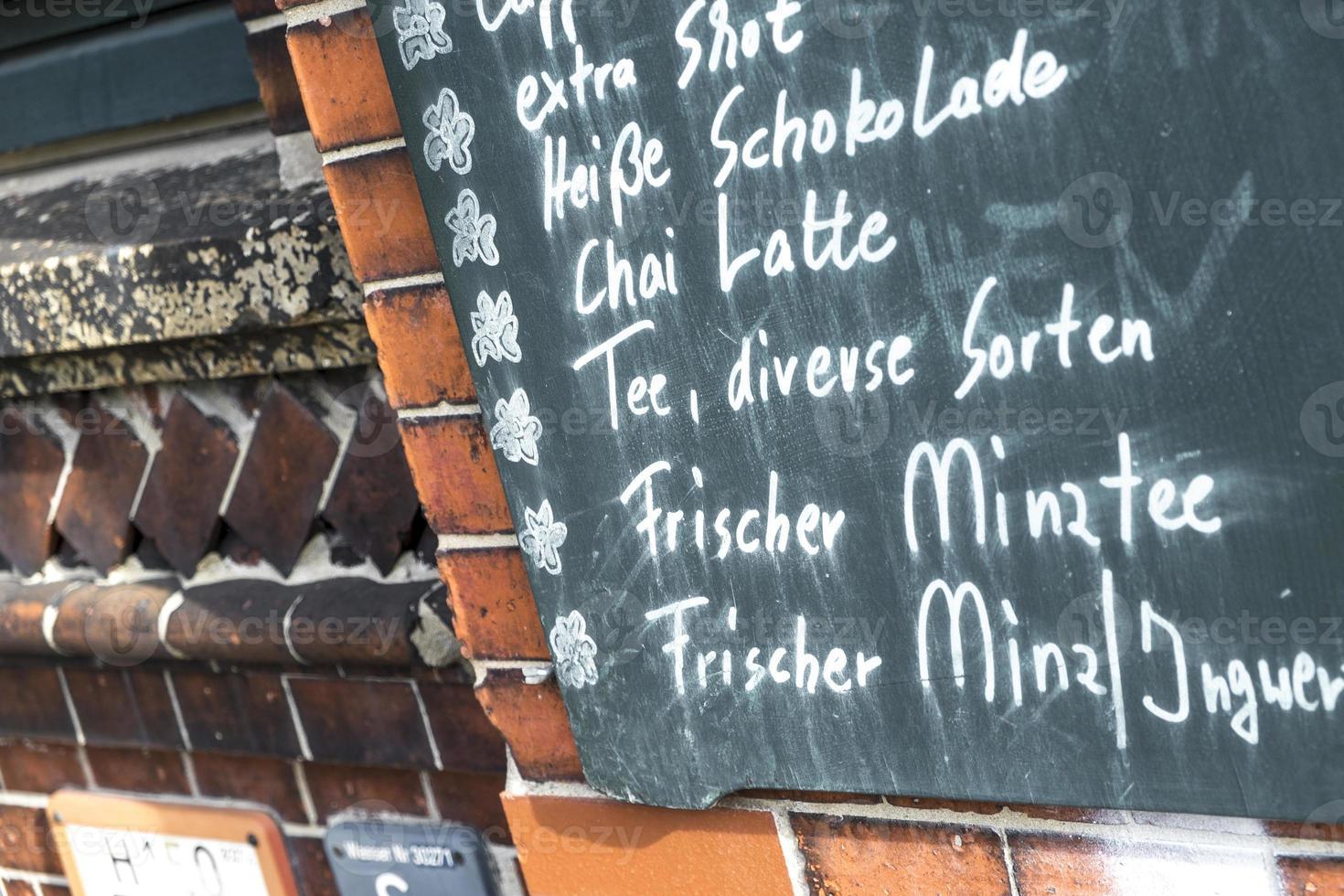 menu in het Duits foto