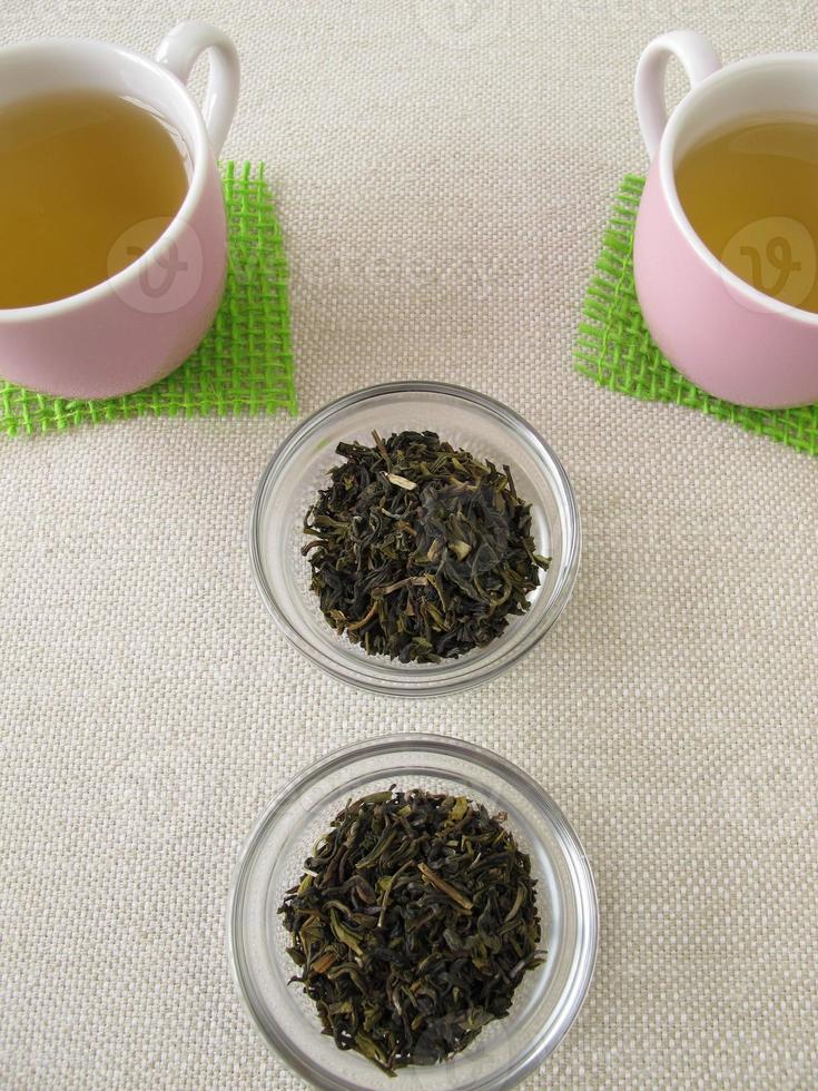 darjeeling groene thee foto