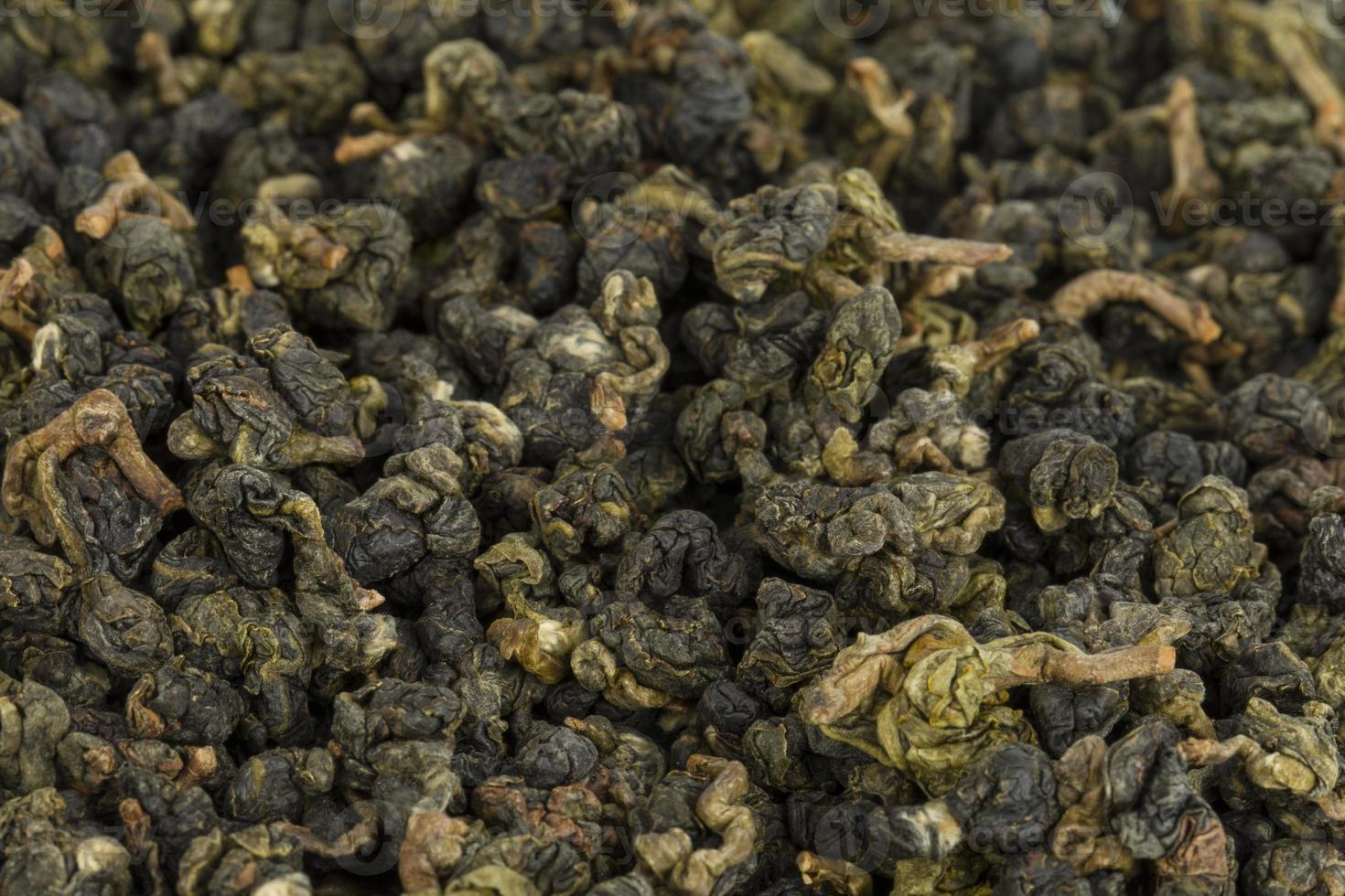 droge groene thee. foto
