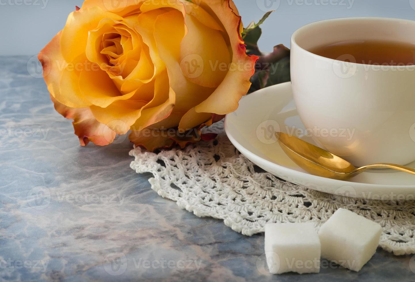 ochtend kopje thee foto
