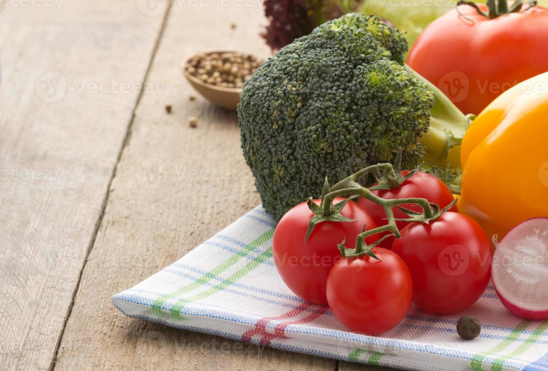 verse groente en voedsel foto
