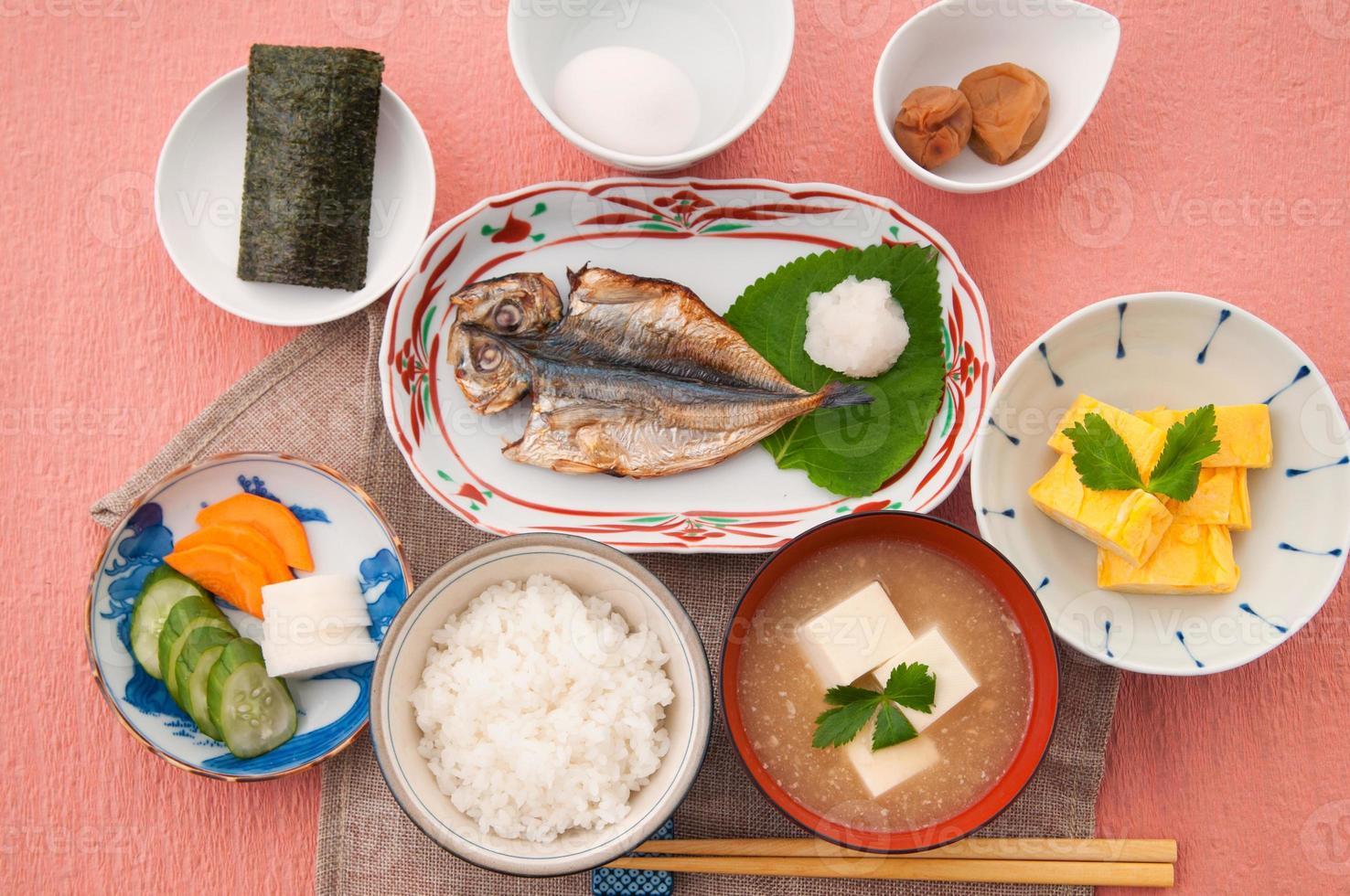 Japans ontbijt foto