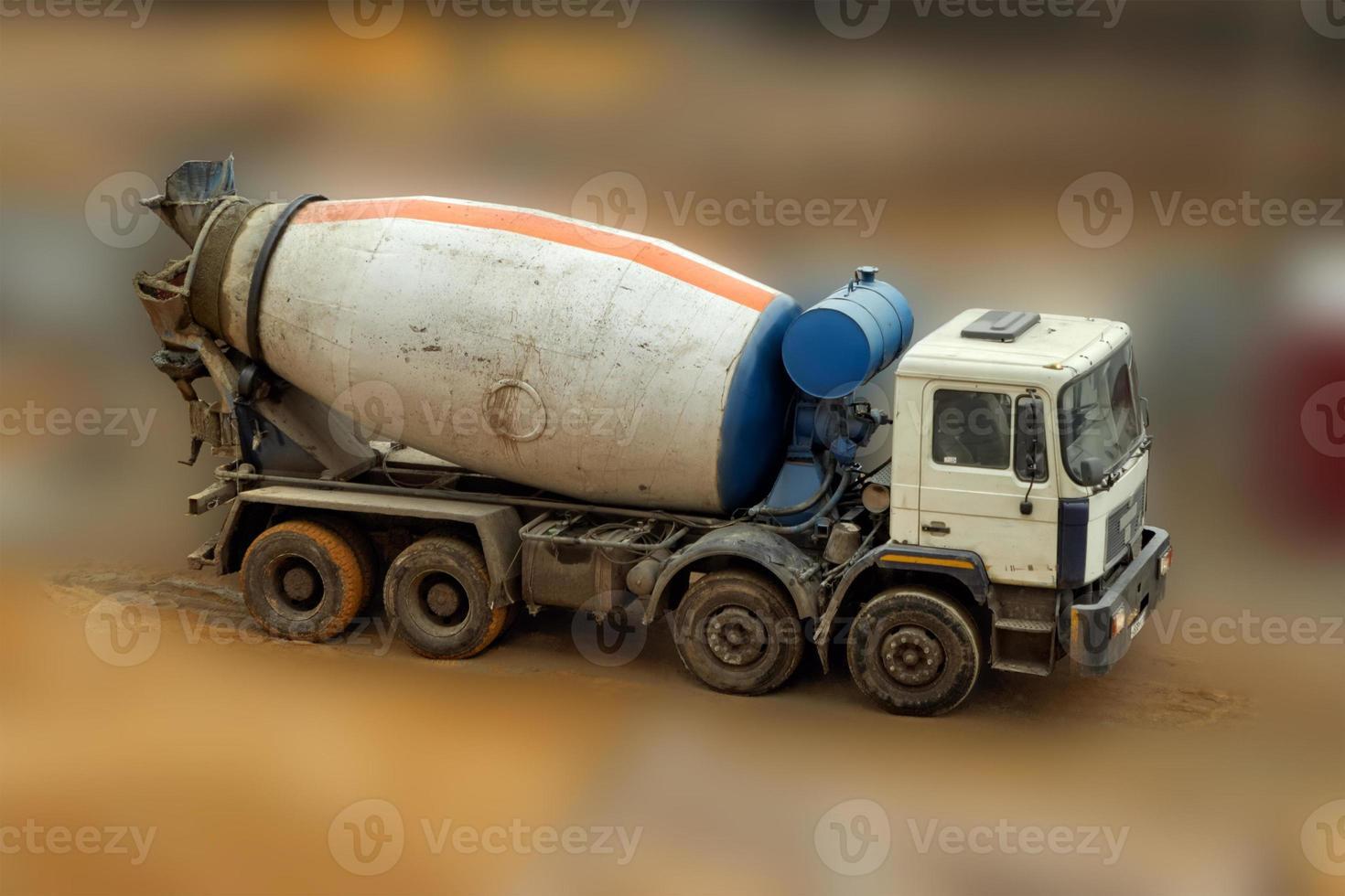 betonmixer vrachtwagen. foto