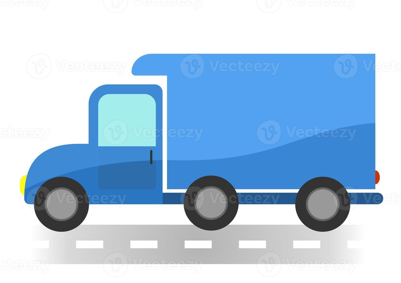 cartoon busje op witte achtergrond foto