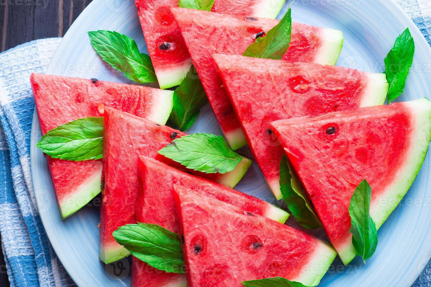 plakjes watermeloen foto