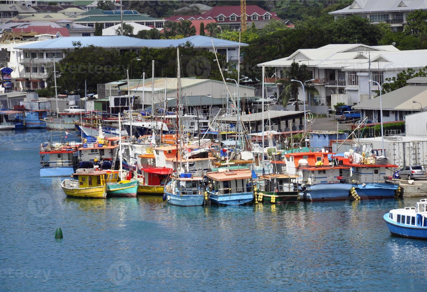 jachthaven in haven Victoria foto