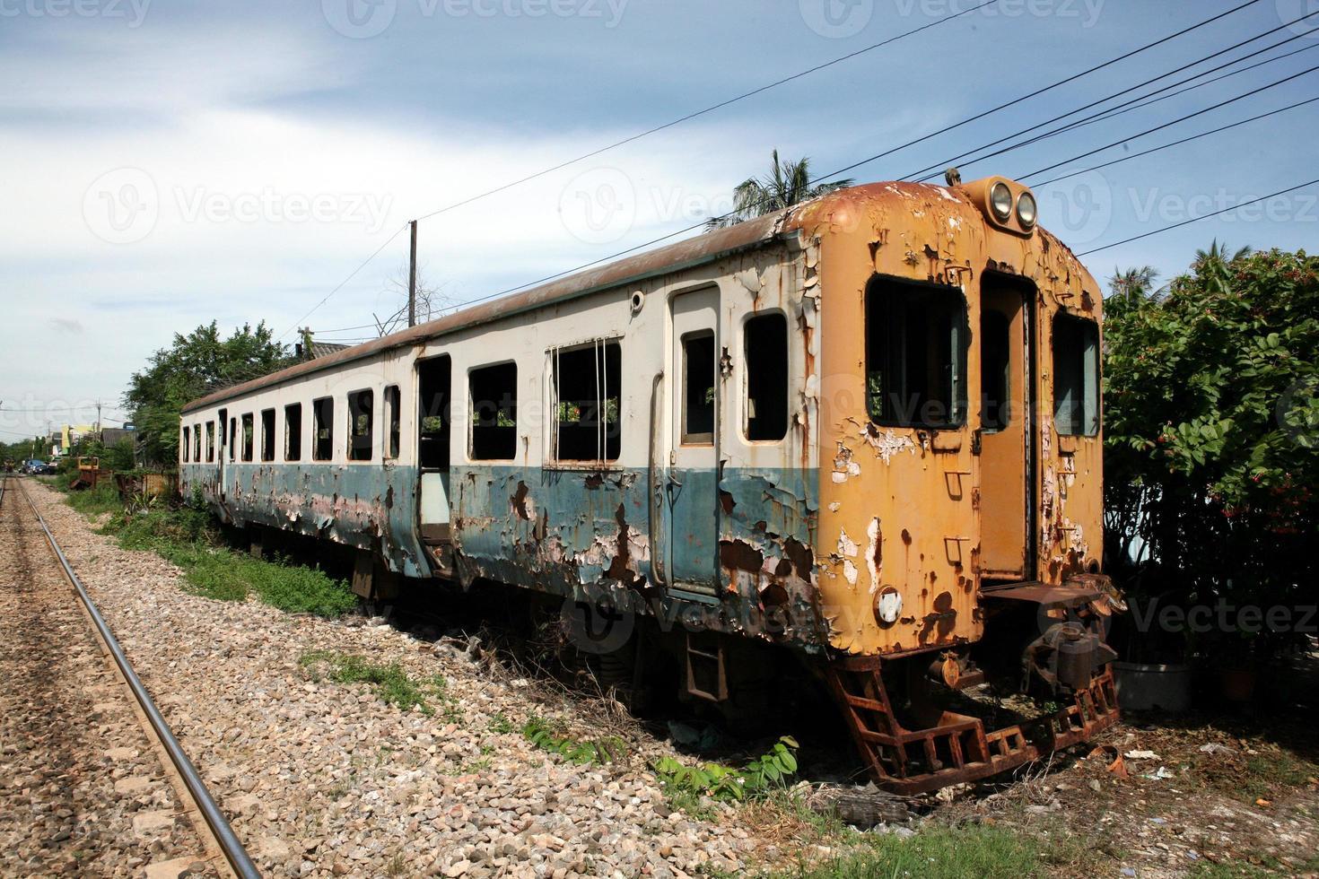 verlaten trein foto