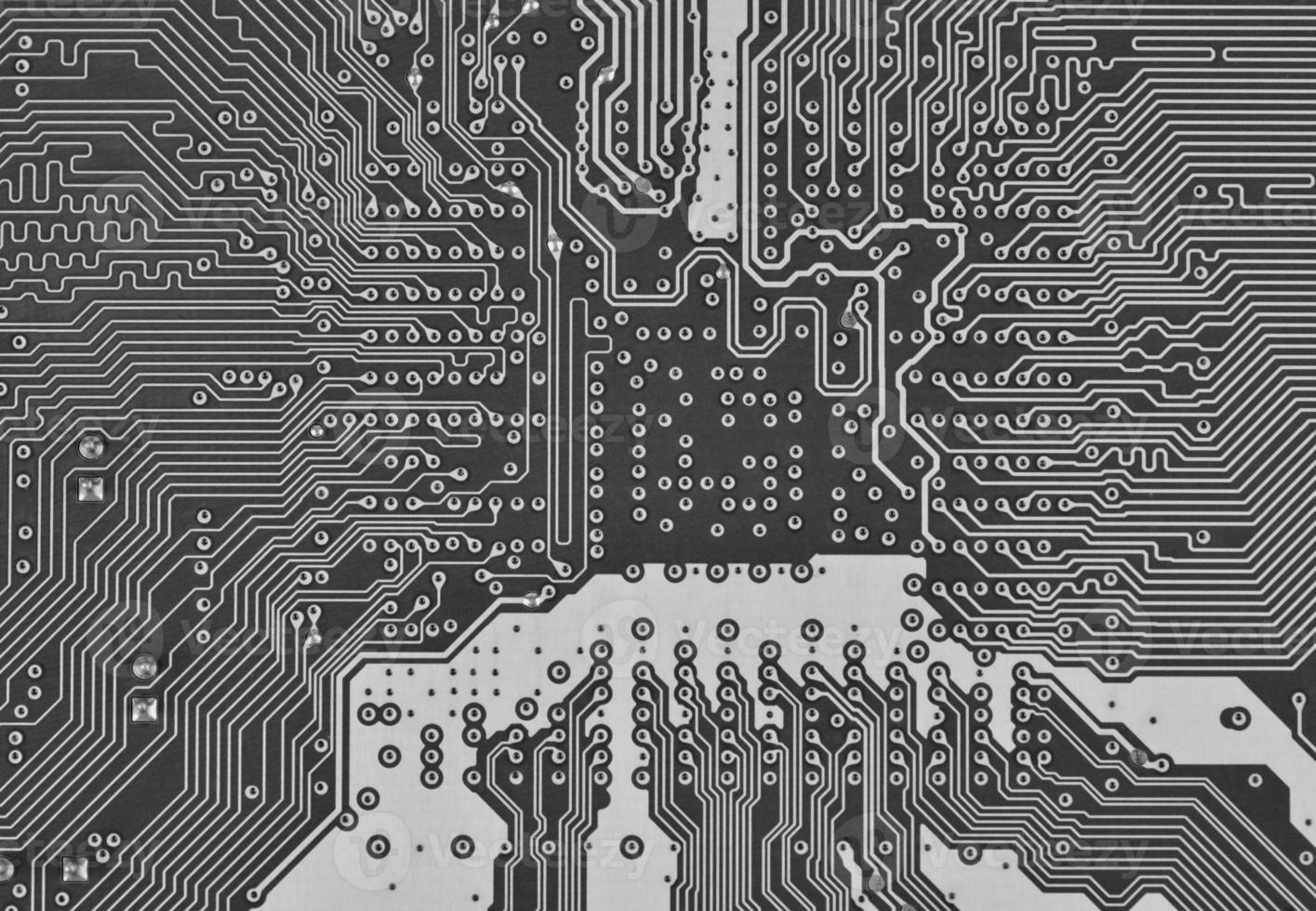 elektronische printplaat als een abstract achtergrondpatroon foto