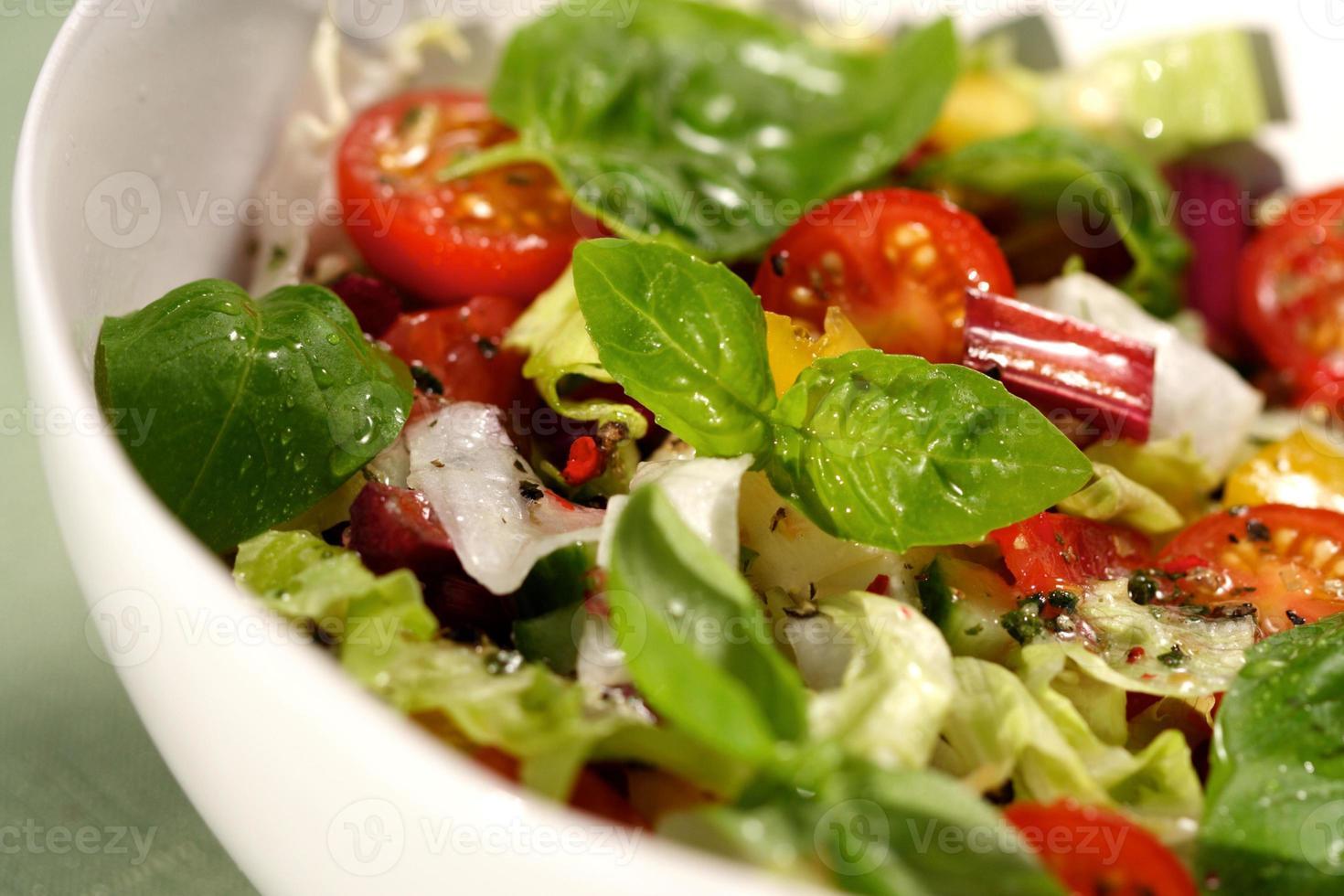 close up van lente salade foto
