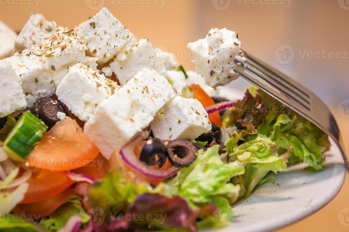 Griekse feta-salade foto
