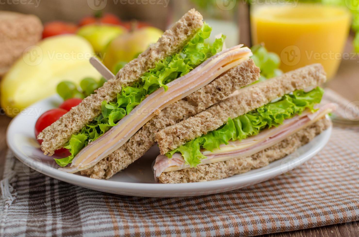 terug naar school sandwich foto