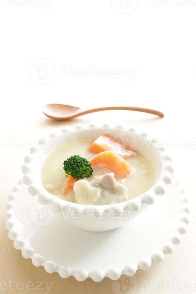 kip en groente stoofpot foto