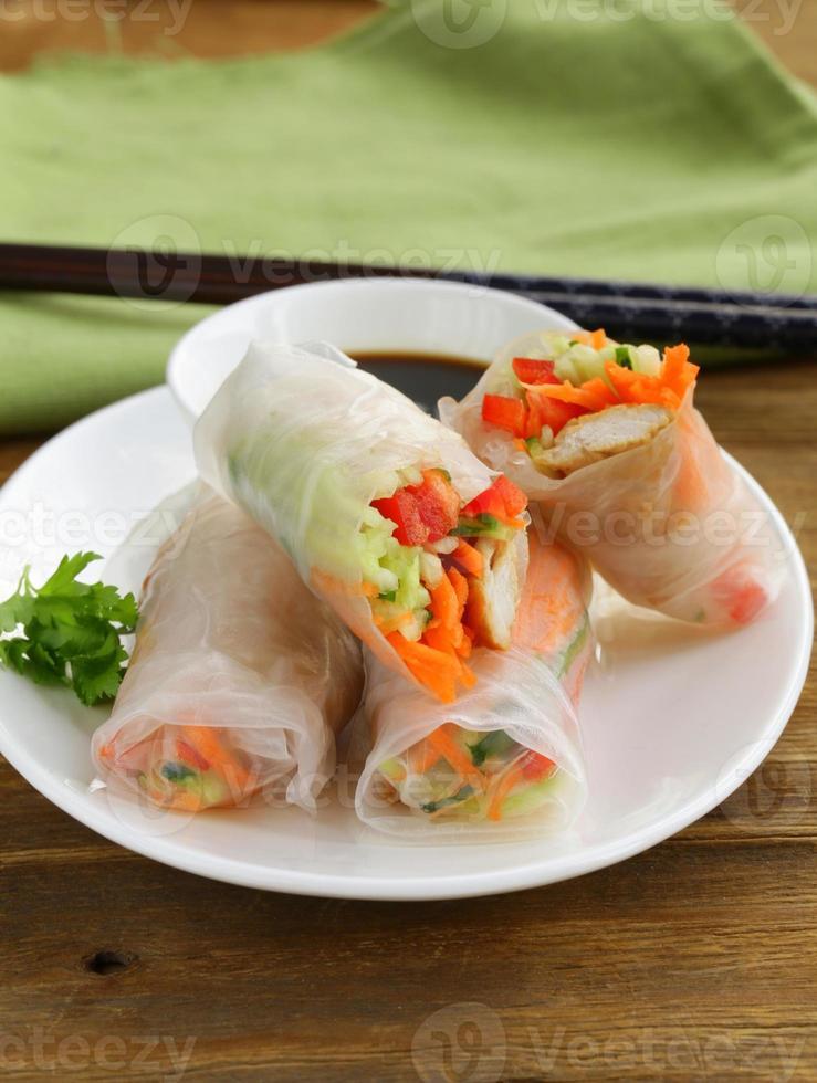 loempia's met groenten foto